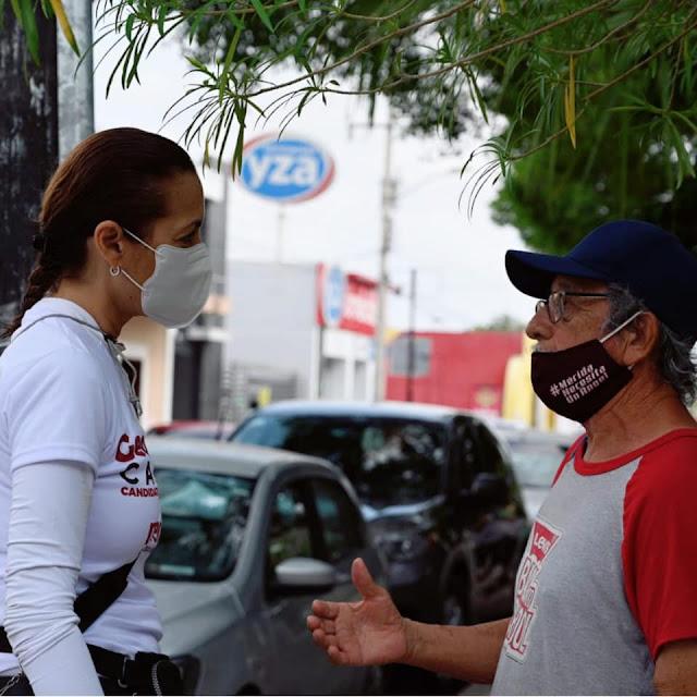"""""""No deja de sorprendernos el cariño en nuestro distrito"""": Geovanna Campos"""