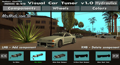 mod visual car tuner gta sa