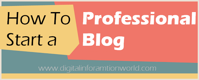 image: How to Start a Professional Blog