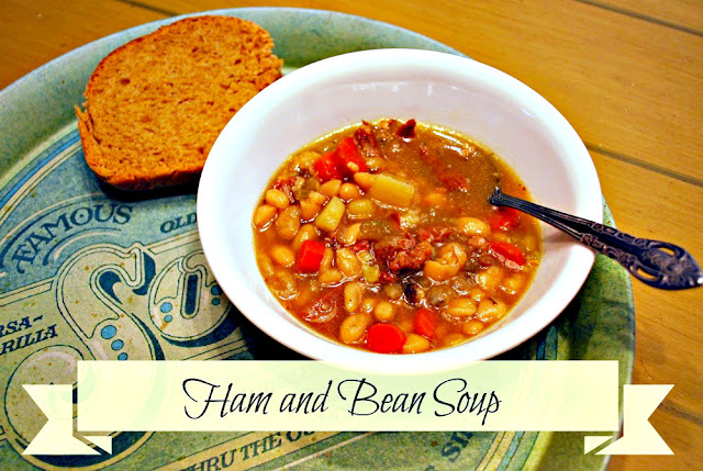 Ham and bean soup from Oak Hill Homestead