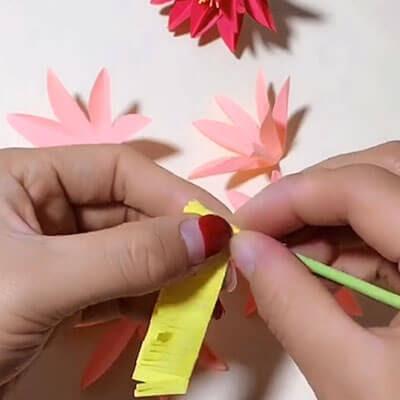 3D paper flower bouquet 5