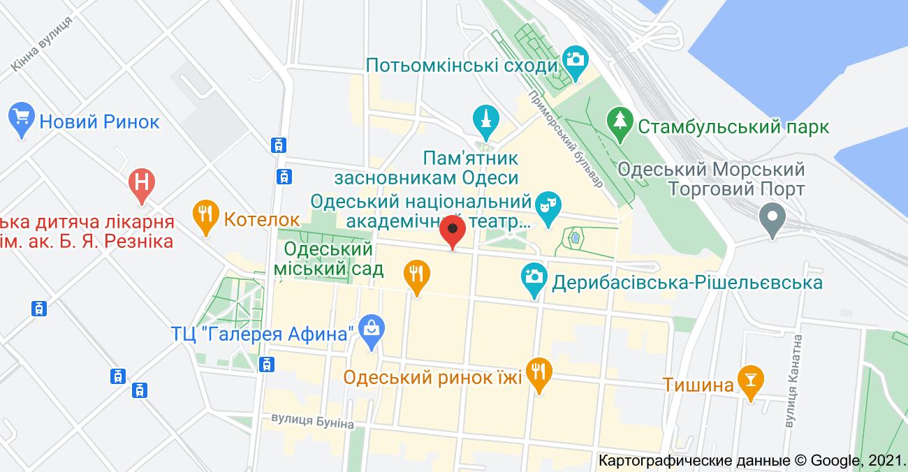 Aldobarbers Барбершоп Одесса на картах Google Maps