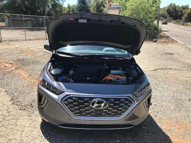 Hood open on 2020 Hyundai Ioniq HEV Limited
