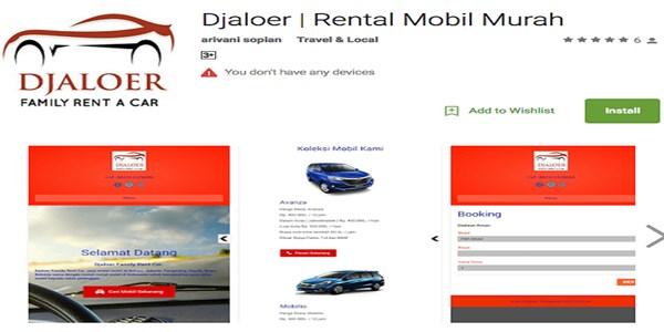 Aplikasi Rental Mobil Murah Terpercaya djaloer