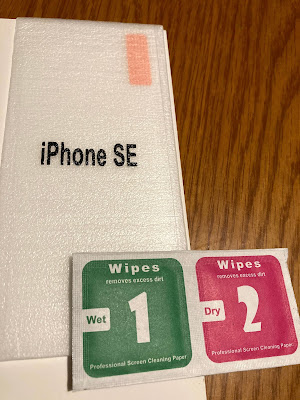 iphoneSE2020用の保護フィルム(ダイソー)