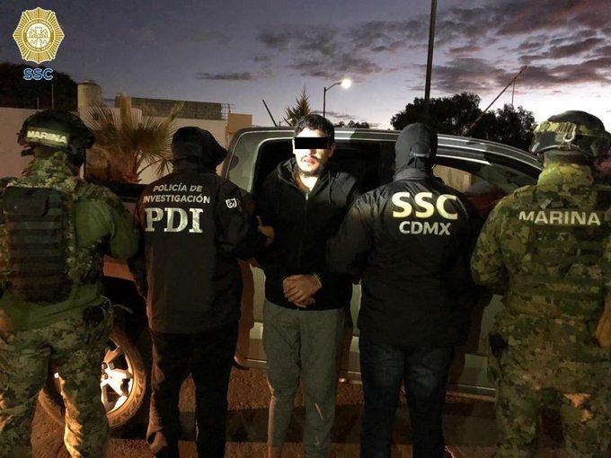 """Marinos y Policías detienen en Hidalgo a Óscar Andrés N, """"El Lunares"""",  líder de la Unión Tepito"""