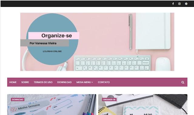 Loja on line, Organização, Organize-se, plpanners, papelaria, serviços digitais