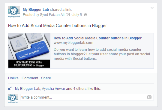 My Blogger Lab: How to fix Facebook Post Thumbnail Issue in