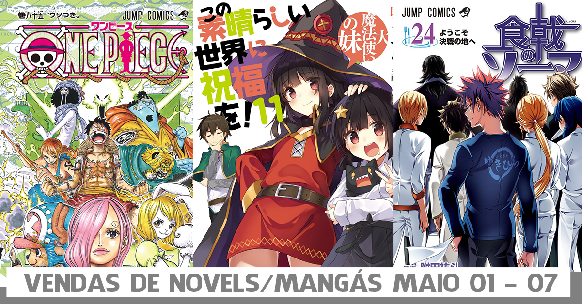 Vendas semanais de mangás e Novels