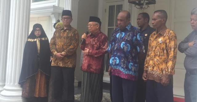 Temui Pendeta Se-Papua, Kiai Ma'ruf Amin Ajak Tokoh Lintas Agama Jaga Perdamaian