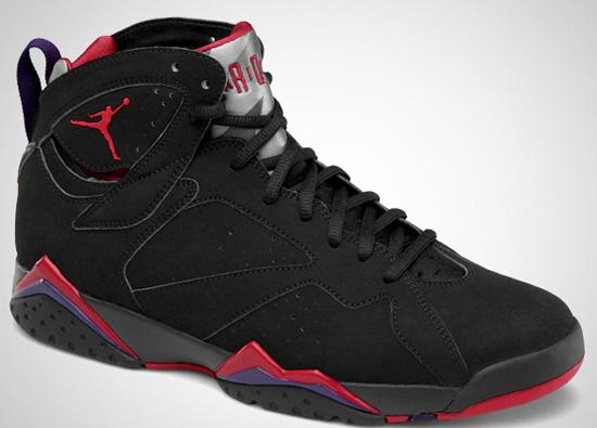 new style 97320 d04ec Air Jordan 7 Retro Black True Red-Dark Charcoal-Club Purple Release Reminder