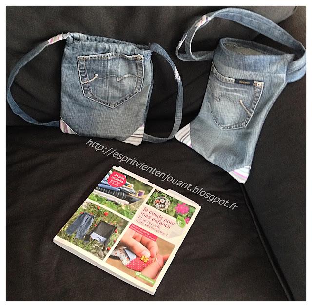 l 39 esprit vient en jouant livre faire de la couture durable en recyclant un jeans en sac. Black Bedroom Furniture Sets. Home Design Ideas