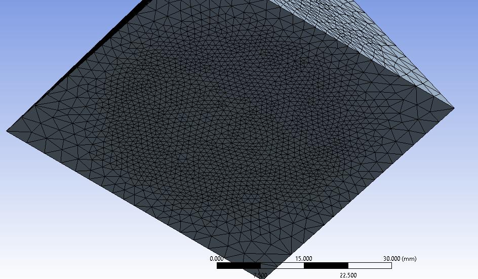 Sphere of Influence mesh with sphere radius 20 mm