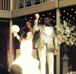 Dustin Byfuglien wedding picture with his wife Emily