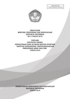 Petunjuk Teknis (Juknis) Penggunaan Dana Alokasi Khusus Nonfisik Batuan Operasional Penyelenggaraan Pendidikan Anak Usia Dini (PAUD) 2019