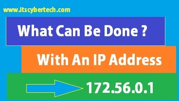 What can be done with an IP address?