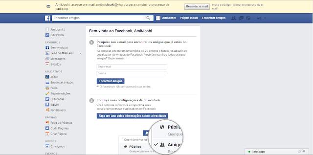 Entrar Facebook Entrar login