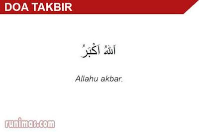 doa takbir
