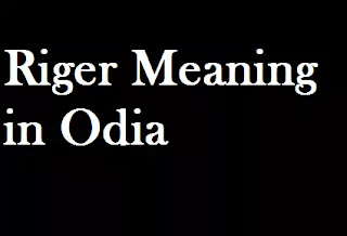 Riger meaning in Odia | the monkey from riger meaning in odia