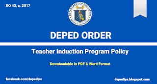 DO 43, s. 2017 - Teacher Induction Program Policy