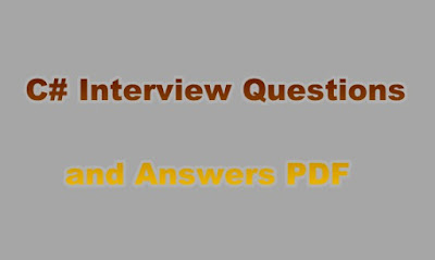 C# Interview Questions and Answers PDF
