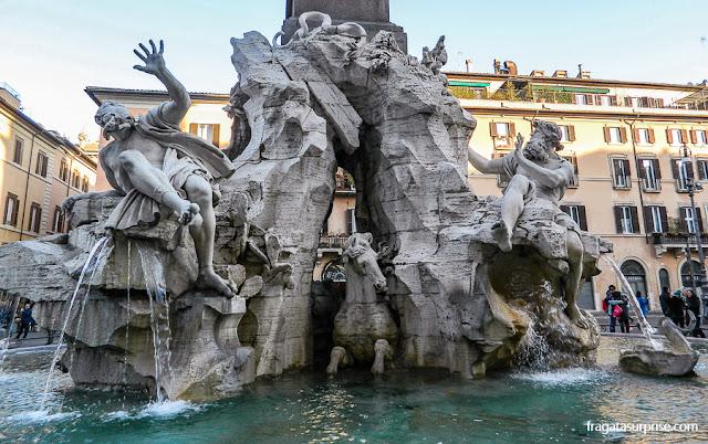 Fonte de Bernini na Piazza Navona, Roma