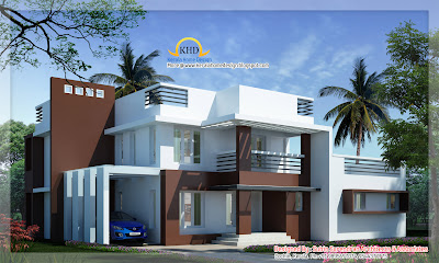 Modern Contemporary Villa design - 250 Sq M (2700 Sq. Ft) - January 2012