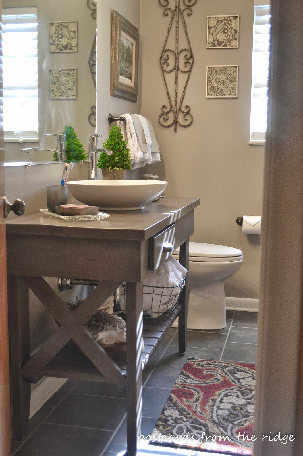 Gorgeous makeover of a 1964 bathroom.  Lots of great bathroom ideas here!