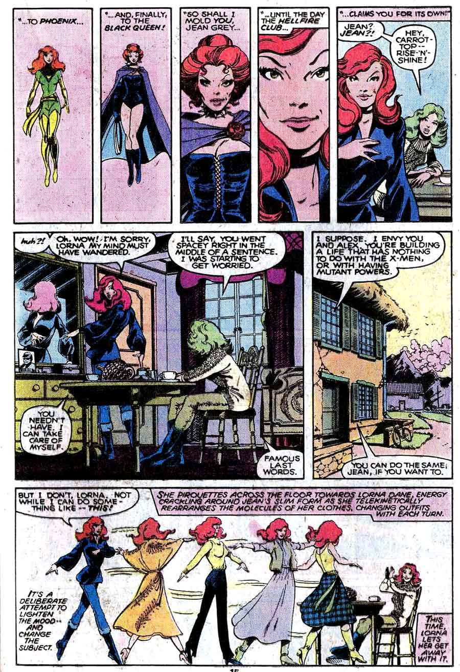 X-men v1 #125 marvel comic book page art by John Byrne