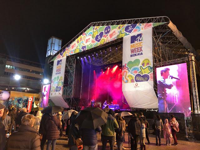 concierto en Herriko Plaza organizado por MTV