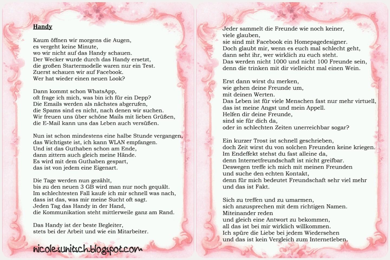 Gedichte Von Nicole Sunitsch Autorin Handy Gedicht Von