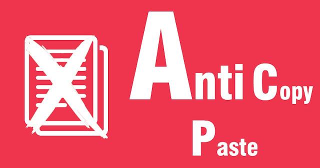 anti copy-paste blogger