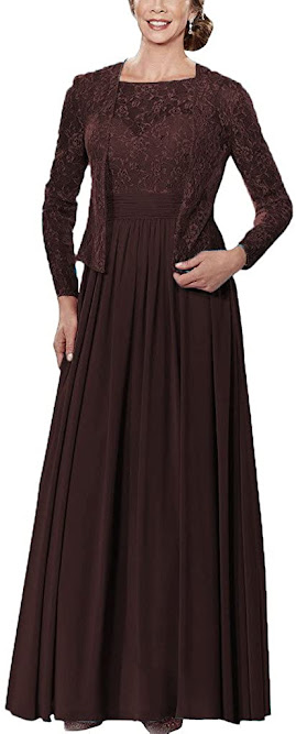 Brown Grand Mother of The Bride Dresses