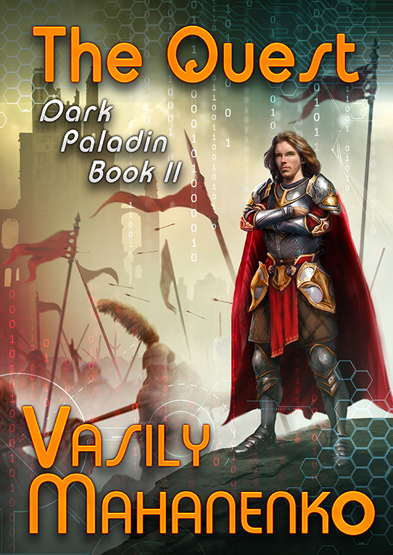 Modern Book Cover Quest ~ Modern fantasy and sci fi dark paladin book by vasily