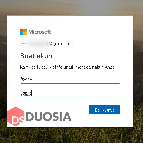 cara buat akun microsoft dari gmail