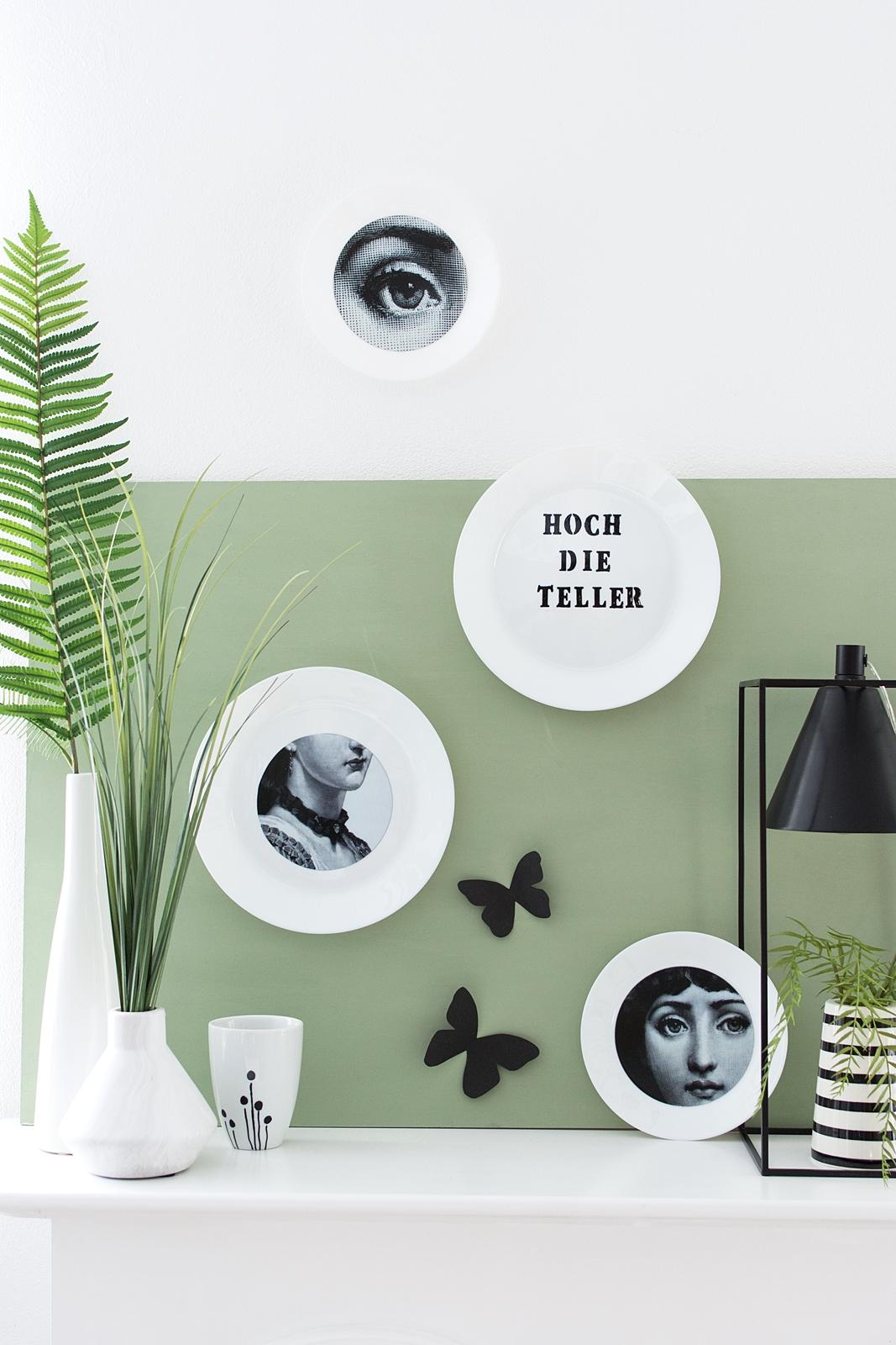 nachmachtipp diy fornasetti wandteller mit fliesensticker sinnenrausch bloglovin. Black Bedroom Furniture Sets. Home Design Ideas