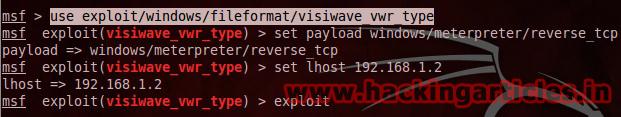 Hack Remote PC using Visiwave VWR File Parsing Vulnerability