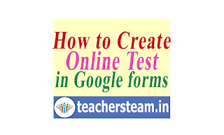 How to create Online Test Quiz using google forms