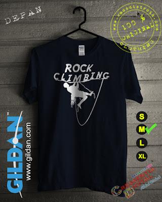 Baju Kaos Distro Rock Climbing Warna Biru Dongker