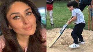 Kareena Kapoor shares a photo of Taimur with caption IPL