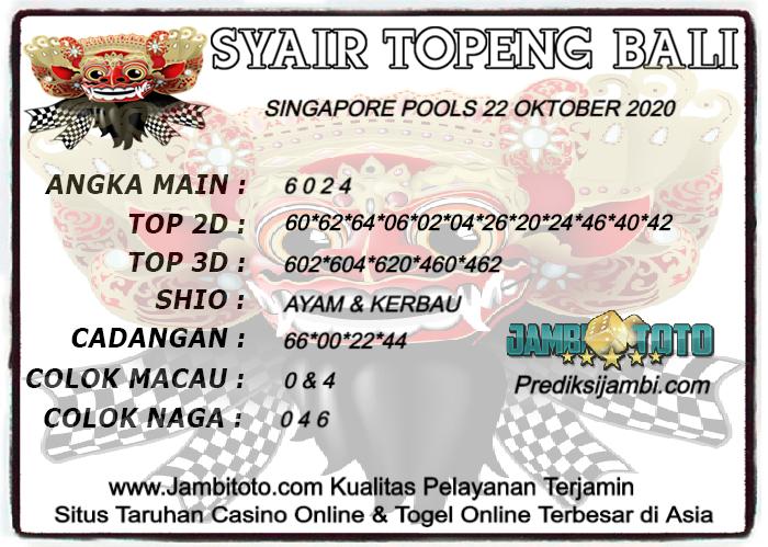 Kode syair Singapore Kamis 22 Oktober 2020 127