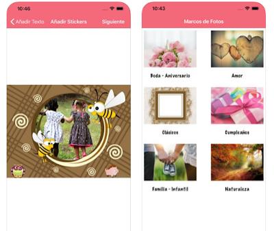 App marcos fotos