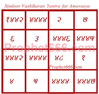 Sindoor Vashikaran Yantra Occult Love Spell for Amavasya