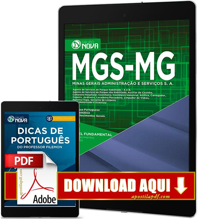 Apostila MGS MG 2017 PDF Download Cargos de Nível Fundamental Grátis Curso Online