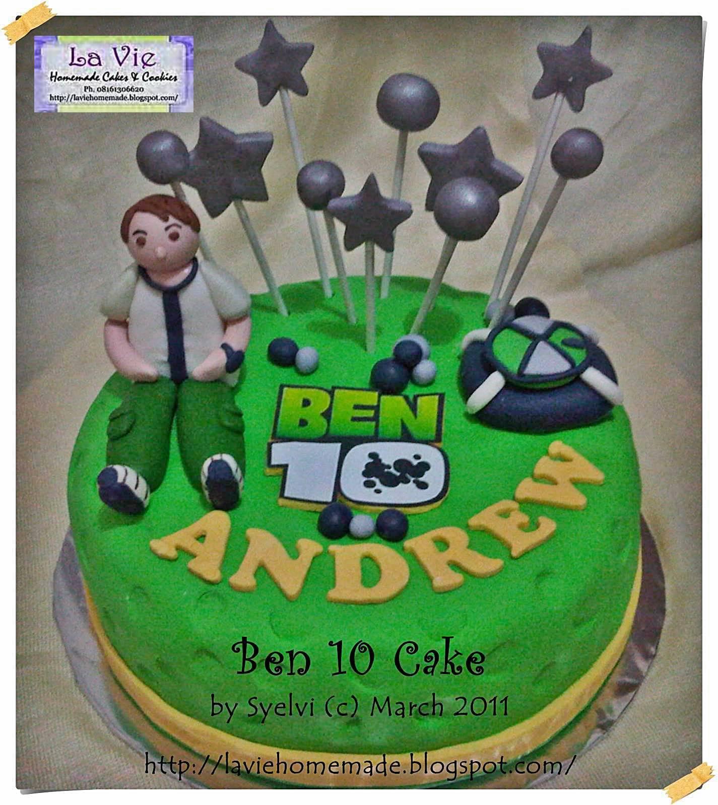 La Vie Homemade Cakes & Cookies: Ben 10 Cake For Andrew