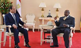 Ugandan president arrives in Cairo to meet President Abdel Fattah al-Sisi