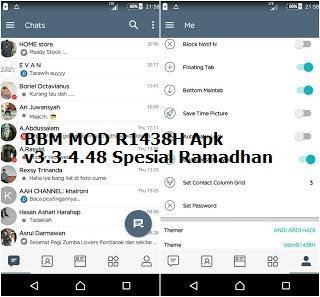 BBM MOD R1438H Apk v3.3.4.48 Spesial Ramadhan