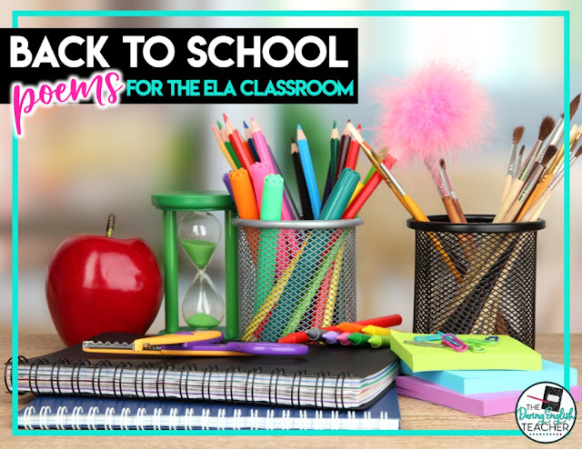 Back-to-School Poems for the ELA Classroom