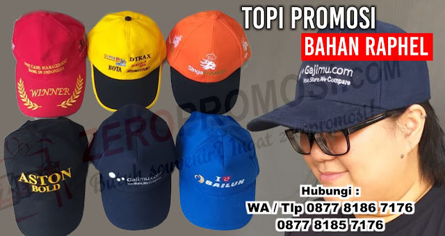 Topi bahan raphel, topi Rafael, topi Rafel (100% cotton), Produksi Topi Raphel Murah