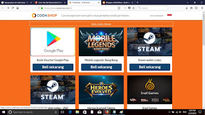 Top up Kredit game online mulai 3000 perak di codashop